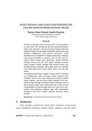 cara membuat imb semarang kesetaraan laki laki dan perempuan dalam pdf download available