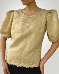 kimona dress mybarong women s kimona blouse 100615 gold