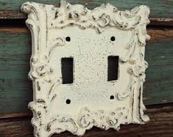 Shabby Chic Light Switch Covers by Mid Century Switch Etsy