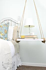 Design For Oval Nightstand Ideas Hanging Nightstand Diy The Weathered Fox