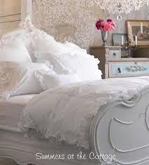 shabby chic poplin white ruffle pillow sham