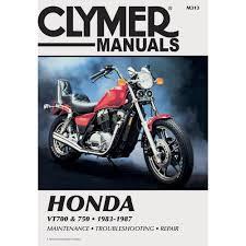 clymer repair manual honda vt700 750 m313 manuals