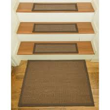 ottomanson dark beige skid resistant stair treads set of 7