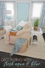 Coastal Home Interiors I U0027m Bringing Aqua Back Coastal Cottage Aqua Blue And Door Curtains