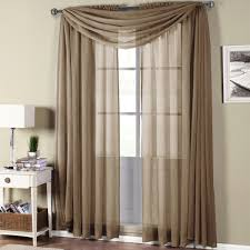abri soft rod pocket crushed sheer curtain panel