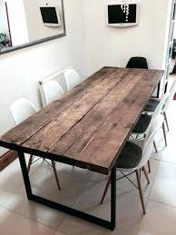 dining table reclaimed industrial chic medieval solid wood
