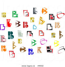 royalty free collage of letter b designs logos by vector tradition
