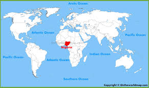 nigeria physical map nigeria maps maps of nigeria