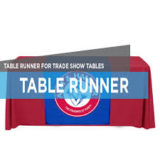 trade show table runner table runner printing for trade shows