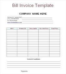 printable bill receipt bill receipt template billing receipt free bill invoice template