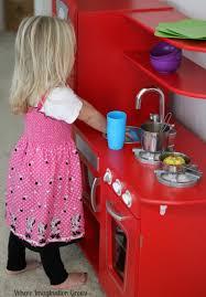 Kidkraft Kitchen Red - kidkraft vintage kitchen review where imagination grows