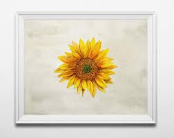 Sunflower Home Decor Sunflower Art Etsy