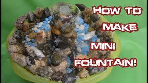how to make mini fountain home decor youtube
