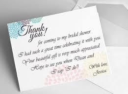 gift card bridal shower wording bridal shower thank you note wording gift card image bathroom 2017