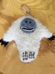 abominable snowman ornament lake alpaca boutique