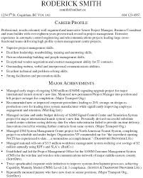 project manager cv template example of project manager resume