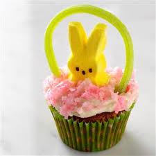 peeps easter basket easter basket cupcakes recipe taste of home