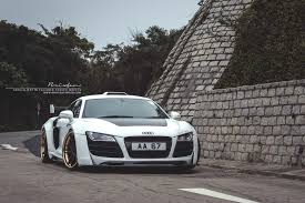 audi r8 gold prior design r8 brixton forged wheels