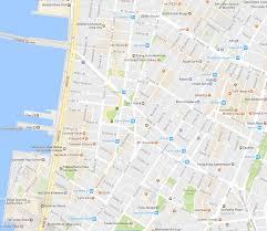 map ny city new york city soho and tribeca neighborhood map