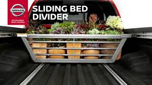 nissan frontier bed length truck sliding bed divider genuine nissan accessories youtube