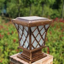 decorative outdoor solar lights chinese aluminum garden decorative led outdoor solar pillar l