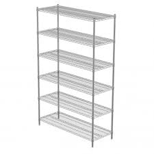 White Wire Shelving Unit by Wire Shelving