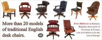 Leather Office Desk Chair Leather Study Chairs Traditional Executive Leather Office Chairs