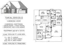 4 bedroom 1 story house plans 4 bedroom 1 story 2901 3600 square