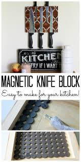 best 25 knife storage ideas on pinterest magnetic knife blocks make a magnetic knife block for your kitchen