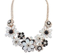 flower necklace images Daisy flower necklace pink pearls jpg