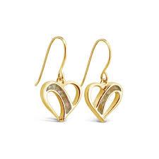 gold drop earrings traveling heart gold drop earrings dune jewelry