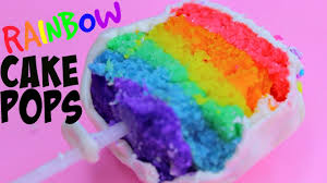 rainbow cake pops how to make rainbow cakepops youtube