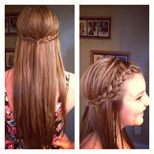 poof at the crown hairstyle cute french braid back with a poof hair pinterest french