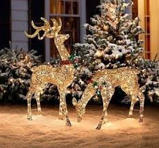 Glitter Reindeer Christmas Decorations by Reindeer Christmas Decorations U2039 Decor Love