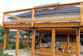 carport deck designs carport with deck above in front of the