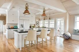 Kitchen Bookcases Hickory Wood Floors Kitchen Victorian With Beach House Built In