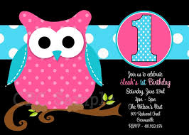 owl birthday party owl birthday party invitation pink black turquoise