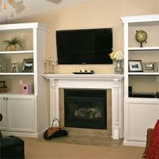 Cabinet And Bookshelf Built In Cabinets Around Fireplace Storage U0026 Decorating