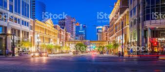 st stores banks illuminated salt lake city utah usa stock