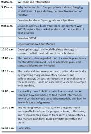 half day business planning workshop tim berry