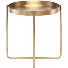 nuevo modern furniture hgde125 gaultier side table in gold brushed