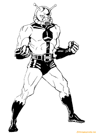 hank pym avengers coloring free coloring pages
