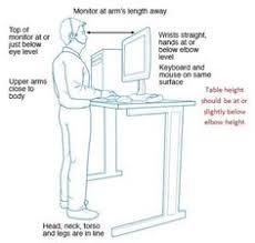 Ergonomic Standing Desk Height Uc Davis Safety Services Think Safe Act Safe Be Safe