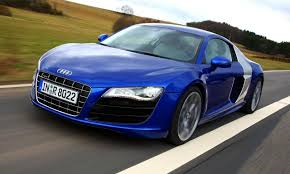 light pink audi audi r8 v10 in electric blue with silver side panels my dream car