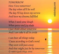 tomorrow poem edith ohaja