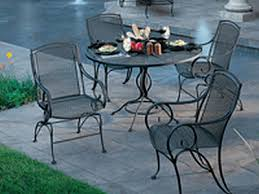 Black Wrought Iron Patio Furniture Sets Modesto Wrought Iron Patio Set Modestoset Inside Dining Design 2