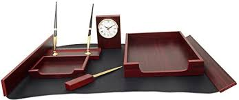 Bestar Desk Bestar Mahogany 6 Piece Desk Set With Clock 6148fdu Price