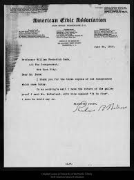 Dr Bade Letter From Richard B Watrous To William F Bade 1910 Jul 28