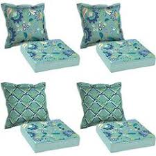 mainstays outdoor chair cushion blue floral patio u0026 outdoor