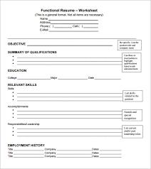 sample functional cv 9 documents in pdf word